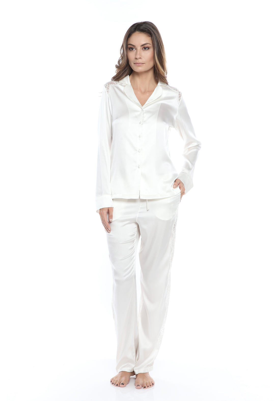 Tendresse Pajama Top in Ivory