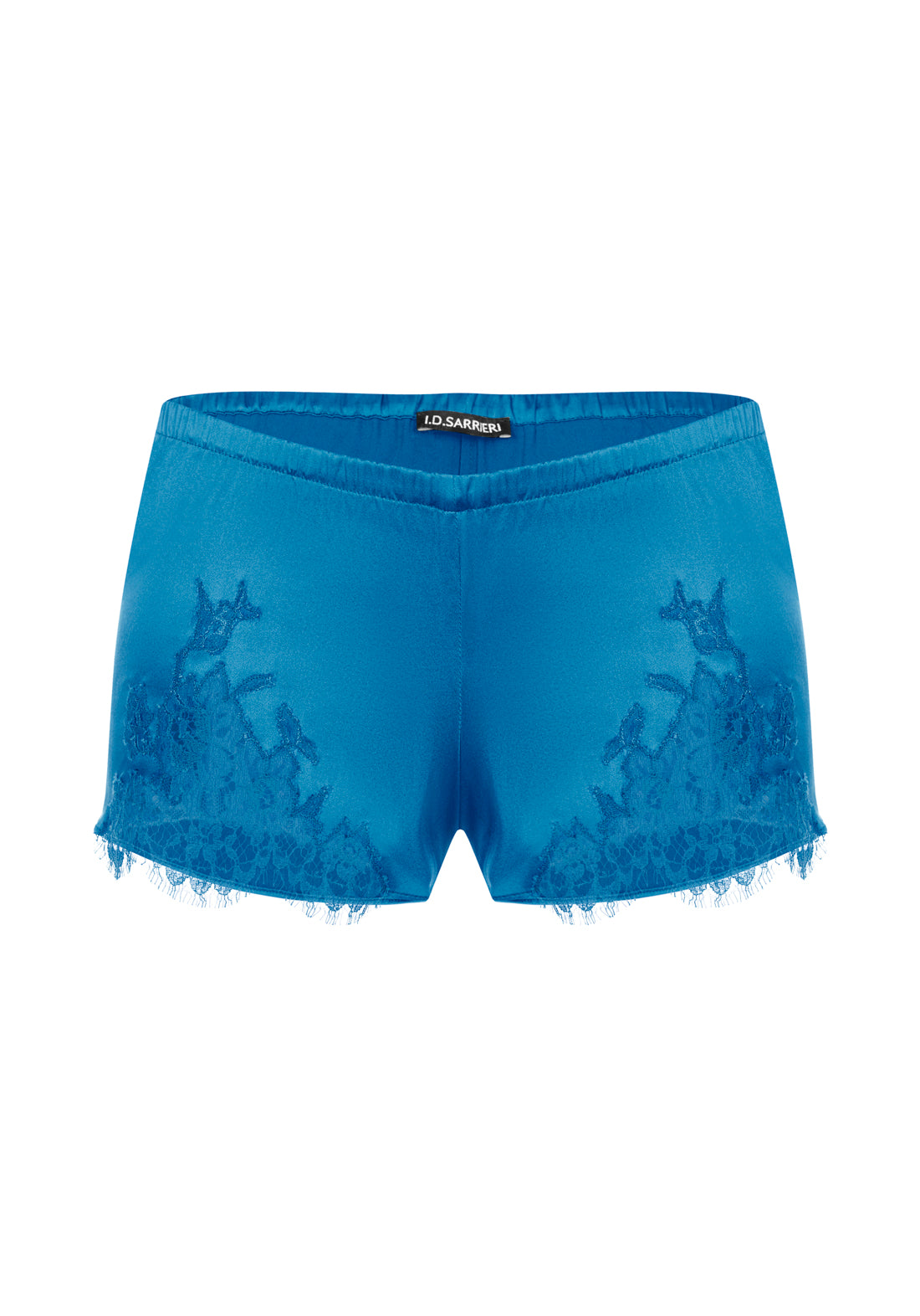 East of Eden Silk Shorts in Indian Blue