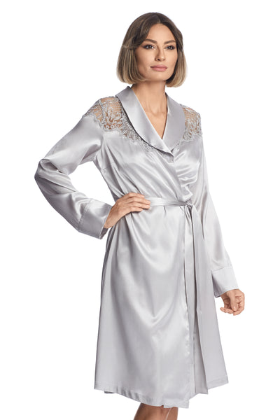 Evening Goddess Robe in French Silver - I.D. Sarrieri