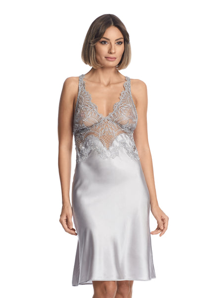 Evening Goddess Chemise in French Silver - I.D. Sarrieri