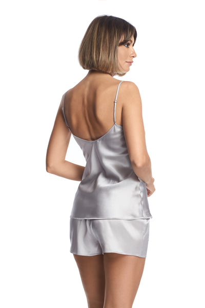 Evening Goddess Shorts in French Silver - I.D. Sarrieri