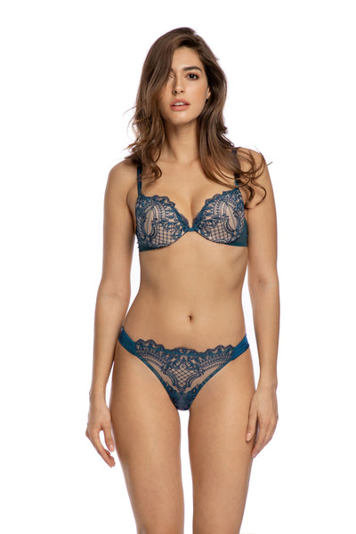 I Found My Love In Portofino Thong in Endless Blue - I.D. Sarrieri