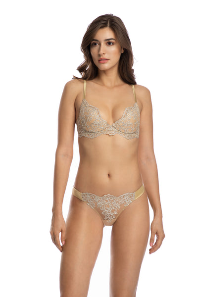 In The Mood For Love Padded Push-Up Bra in Gold - I.D. Sarrieri