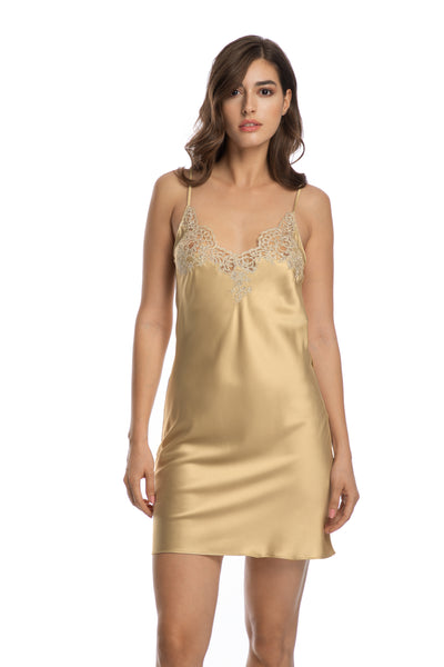 In The Mood For Love Chemise in Gold - I.D. Sarrieri