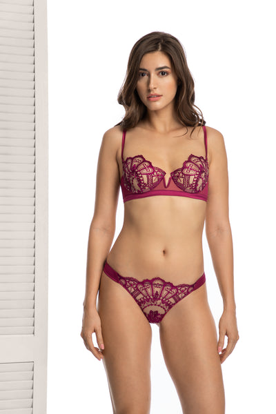 Amelie Thong in Pearl Purple - I.D. Sarrieri