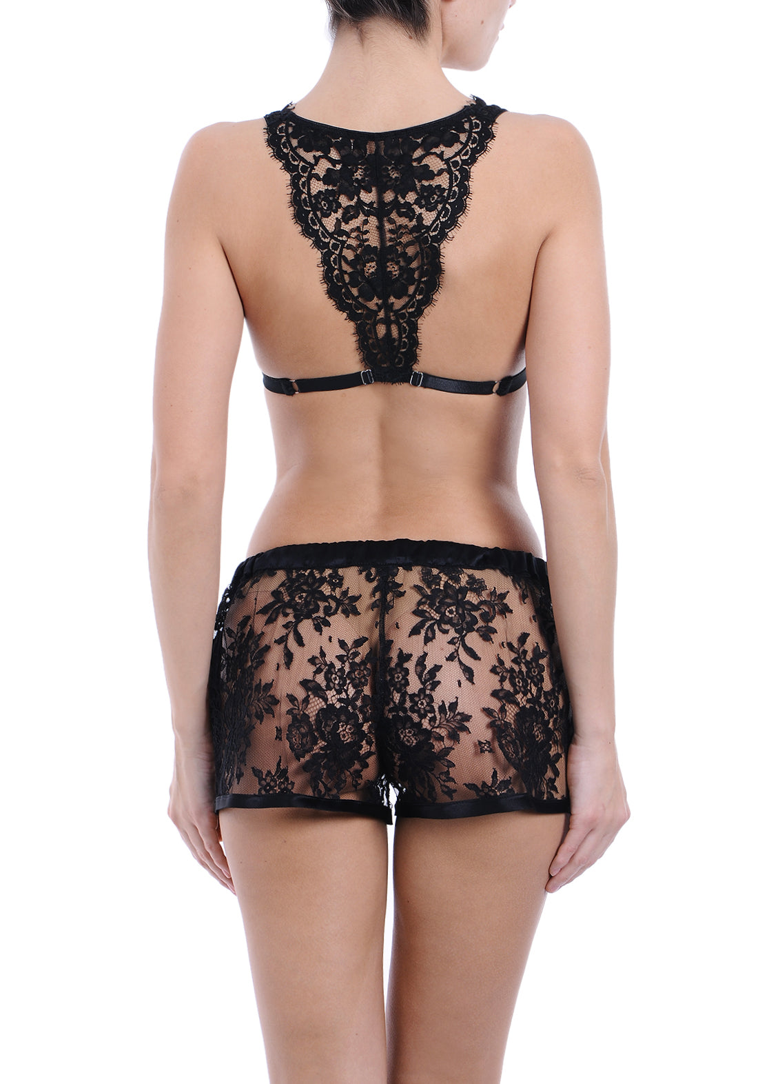 Fatal Attraction Lace Shorts in Black