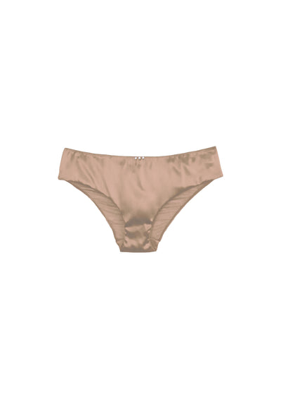 I.D. Sarrieri silk brief with Swarovski Crystals in Nude