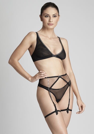 Nuit Interdit Thong in Black - I.D. Sarrieri