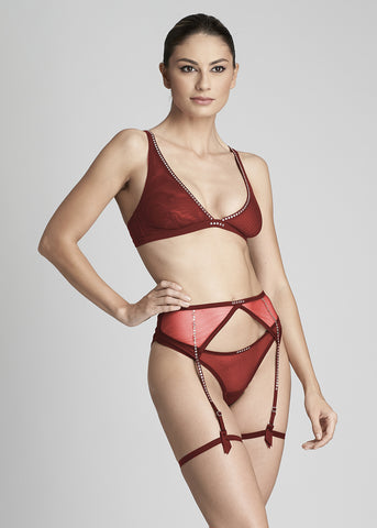 Nuit Interdit Bodysuit in Ruby