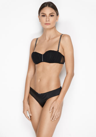 La Reveuse Underwired Half Cup Bra in Smokey Green