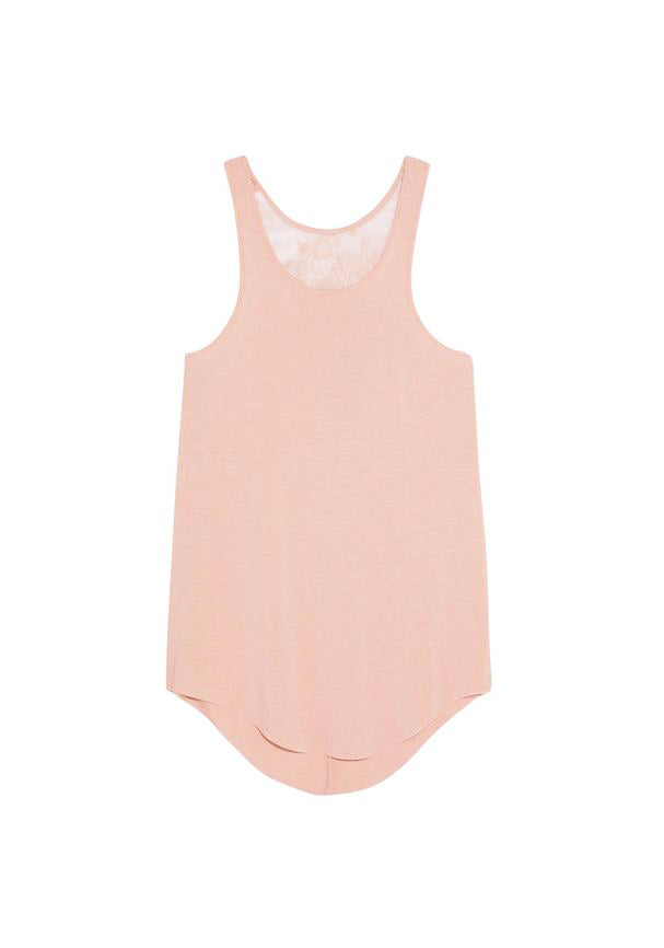 Café Crème Lace Tank Top in Rose