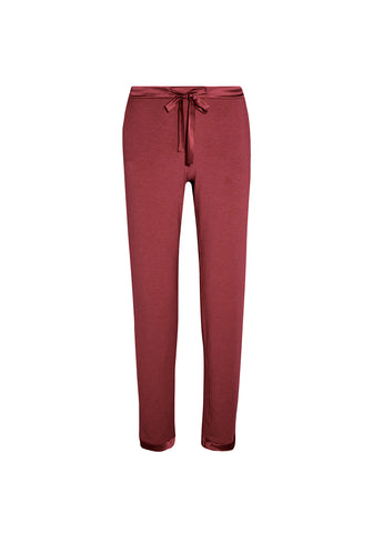 Café Crème Long Pants in Dark Berry