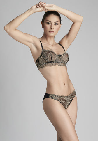 La Reveuse High Waist Brief in Smokey Green