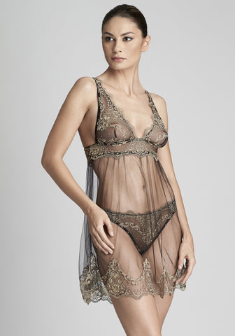 Le Désir Camisole in Metallic Black