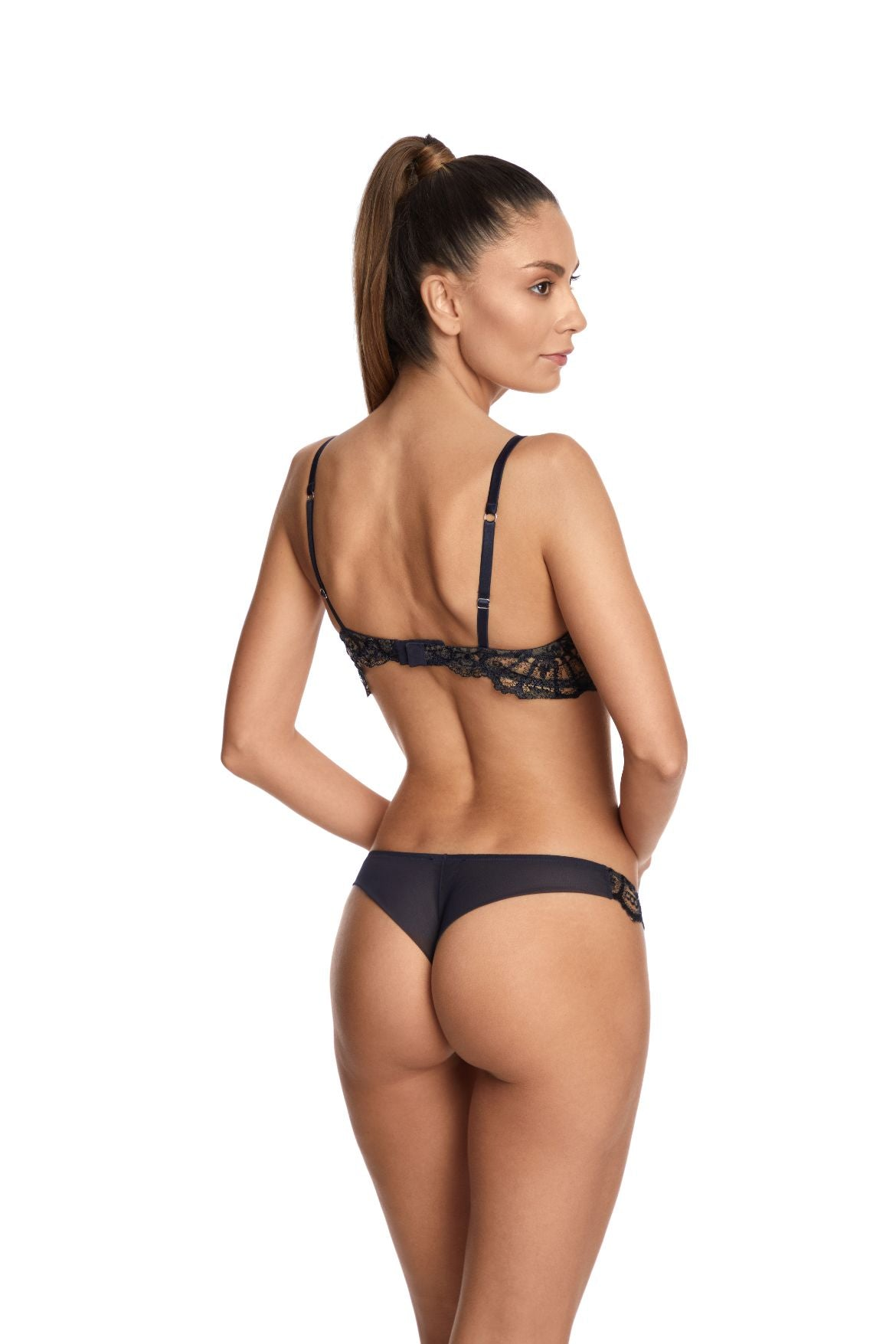 Desert Rose Thong in Bleumarine - I.D. Sarrieri