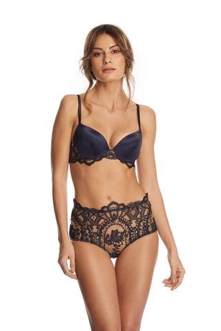 Bohemian Sundays Balconette Bra in Dark Green