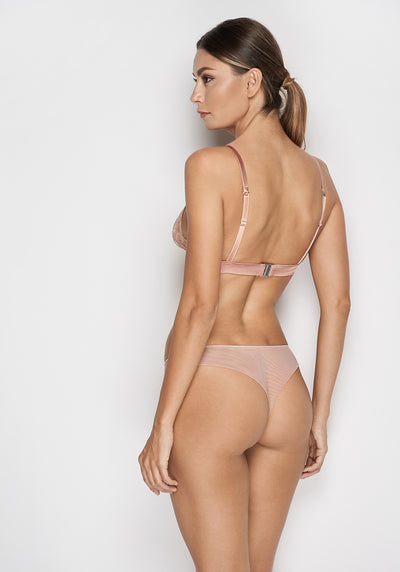 Desert Rose Thong in Rose Gold - I.D. Sarrieri