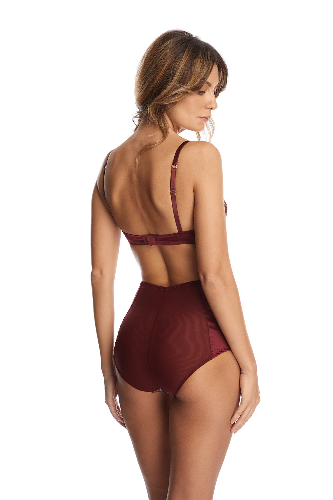 Desert Rose High Waist Briefs in Dark Copper