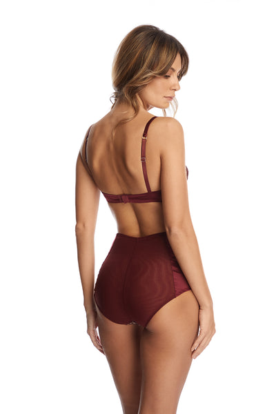 Desert Rose High Waist Briefs in Dark Copper - I.D. Sarrieri
