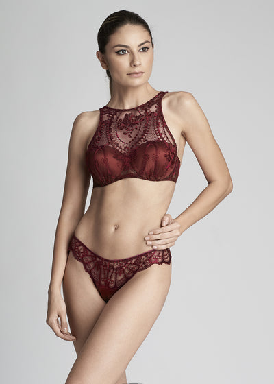 Desert Rose High Neck Padded Push Up Bra in Dark Copper - I.D. Sarrieri