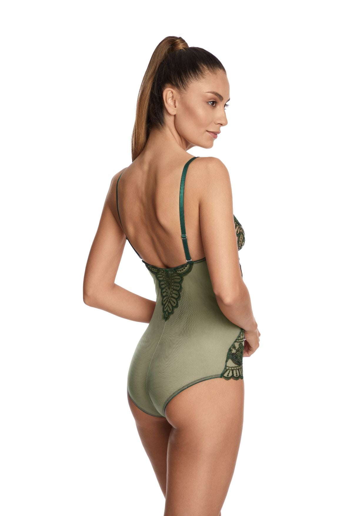 Bohemian Sundays Bodysuit in Dark Green - I.D. Sarrieri