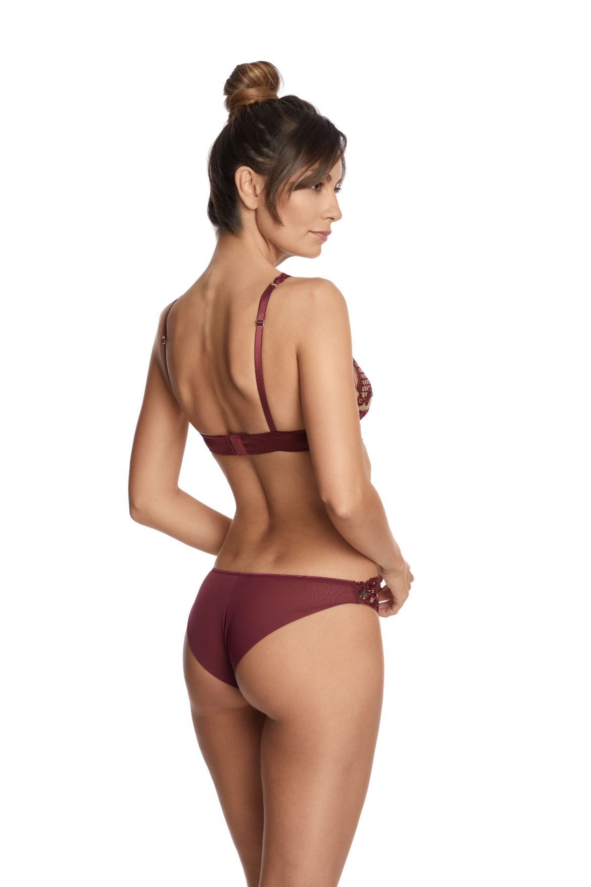 Truly Sophisticated Triangle Bra in Bordeaux - I.D. Sarrieri