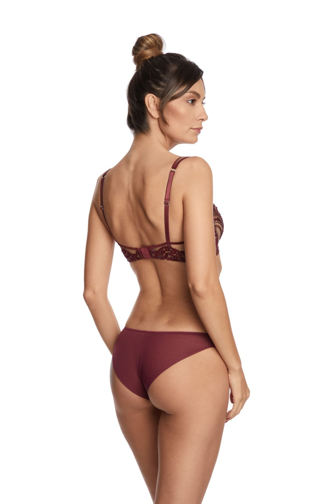 Truly Sophisticated Underwired Bra in Bordeaux