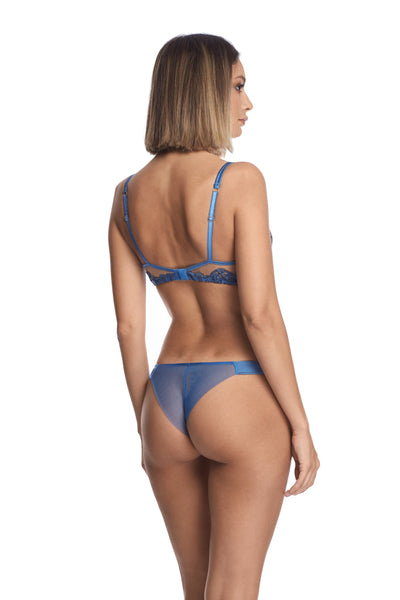 Midnight Affair Thong in Blue Mirage - I.D. Sarrieri
