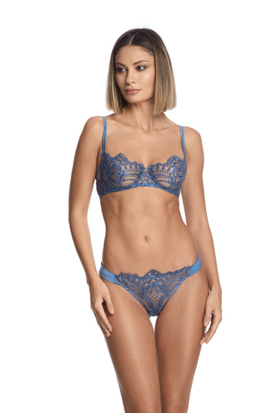 Midnight Affair Balconette Bra in Blue Mirage - I.D. Sarrieri