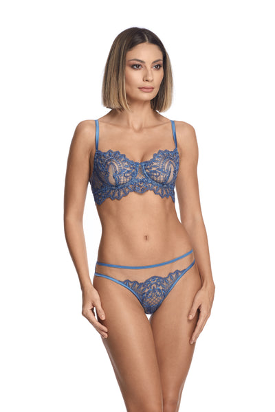 Midnight Affair Longline Bra in Blue Mirage - I.D. Sarrieri