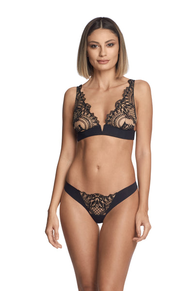 Self Love Triangle Bra in Black - I.D. Sarrieri