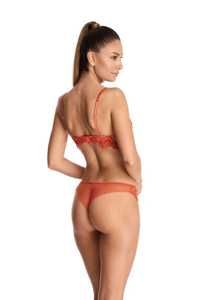 Petit Matin Balconette Bra in Vermillion Orange - I.D. Sarrieri