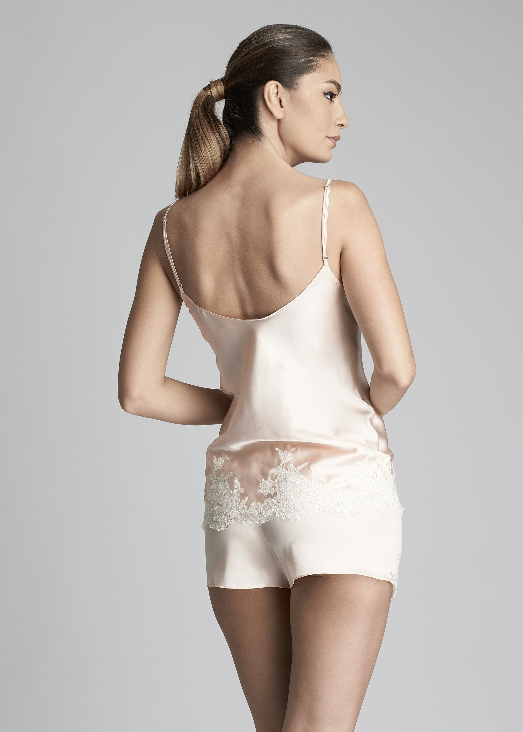 Hôtel Particulier Shorts in Peach Rose - I.D. Sarrieri