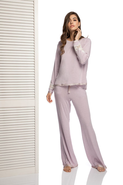Coffee Mornings Pants in Lila Haze - I.D. Sarrieri
