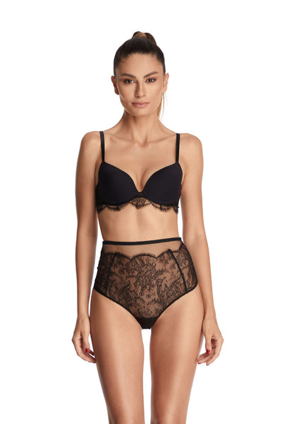 Far From Heaven Padded Push Up Bra in Black
