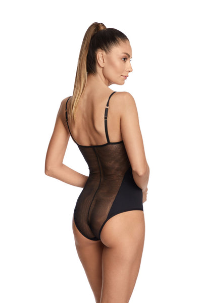 Far From Heaven Bodysuit in Black