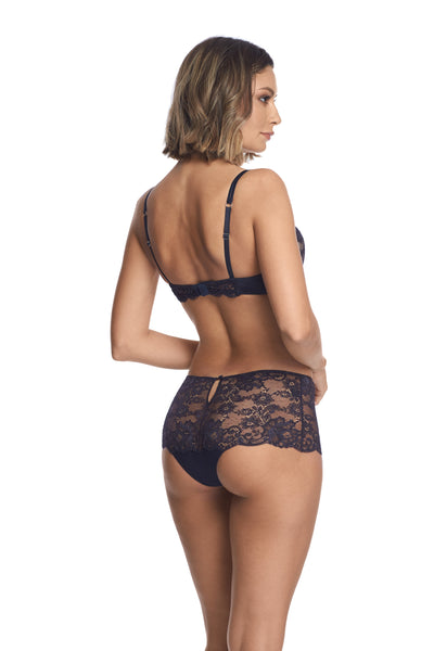Valerie High Waist Brief in Midnight Blue - I.D. Sarrieri