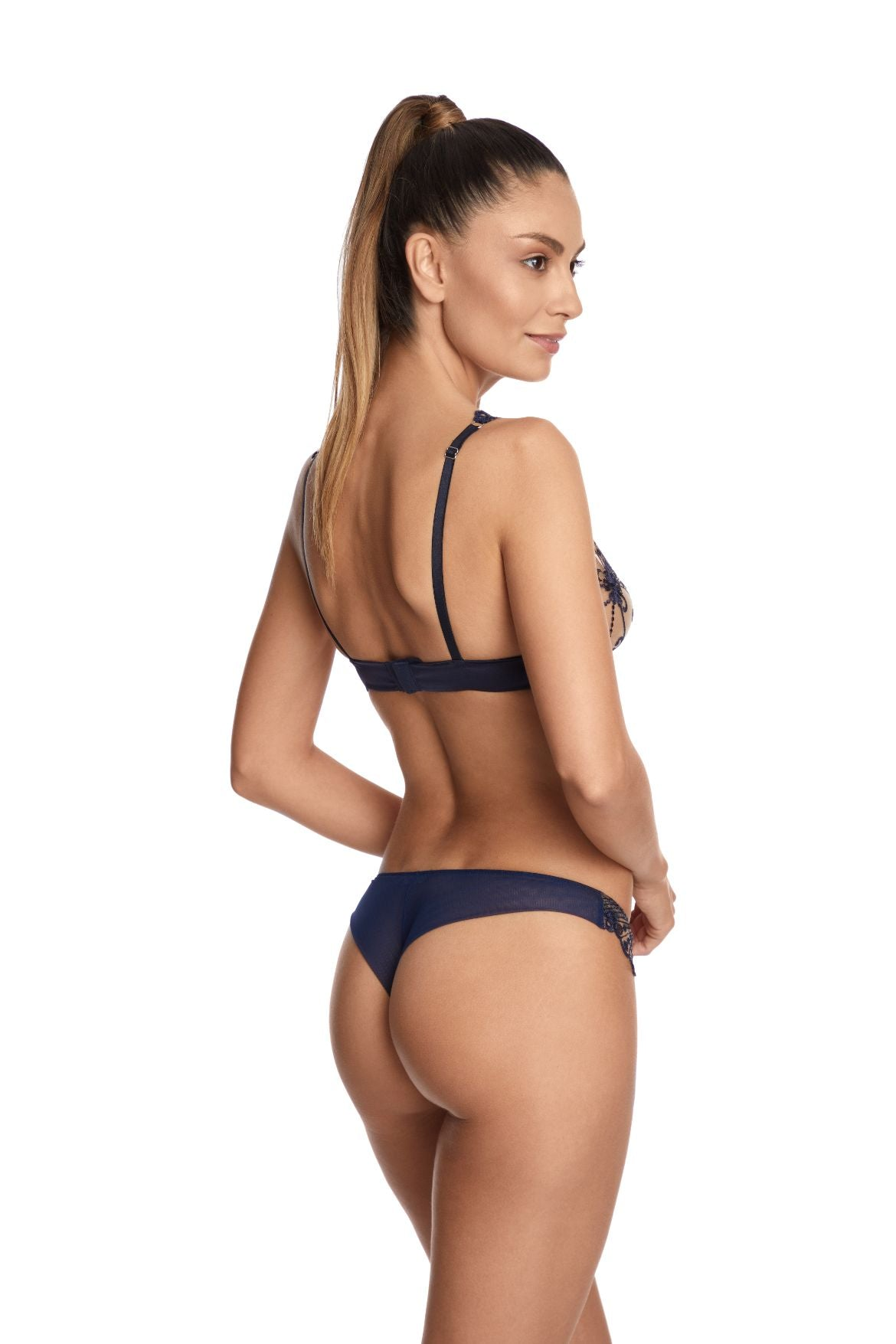 Moonlight Thong in Midnight Blue - I.D. Sarrieri
