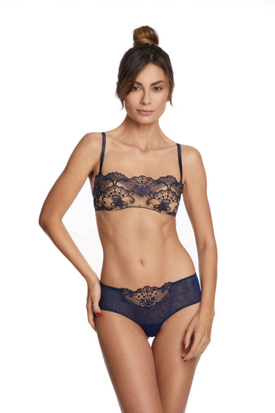 Moonlight Bandeau Bra in Midnight Blue - I.D. Sarrieri
