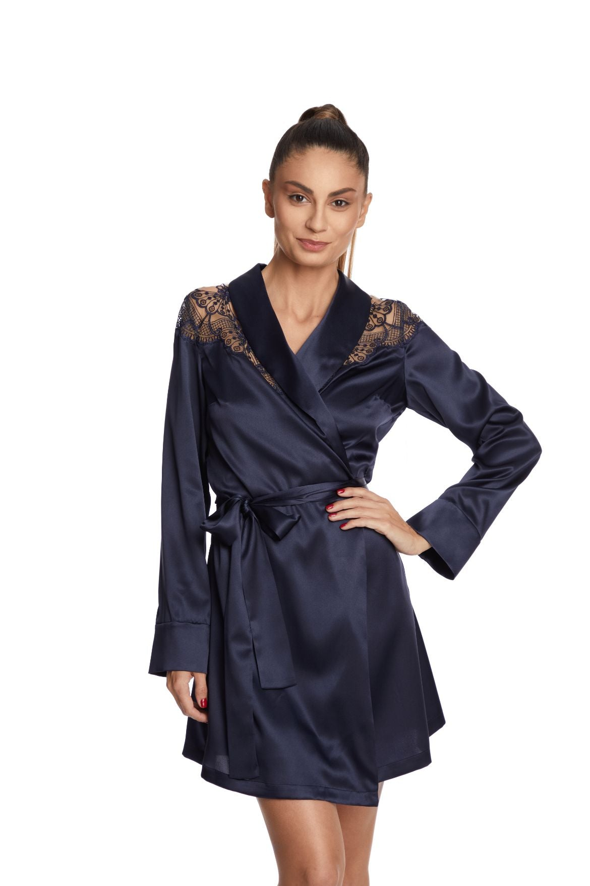 Moonlight Robe in Midnight Blue - I.D. Sarrieri