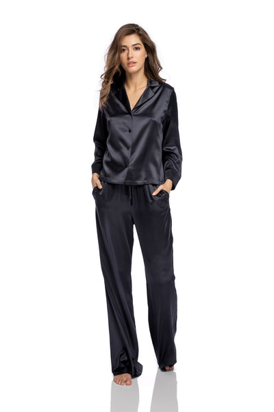 Lombard Street Pants in Charcoal - I.D. Sarrieri