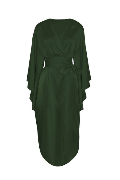 Lombard Street Robe in Army Green