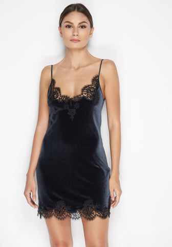 Nuit Interdit Peplum Corset with Swarovski Crystals in Black