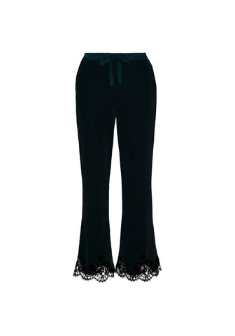 Rose Imperial Long Pants in Forest Green/Black