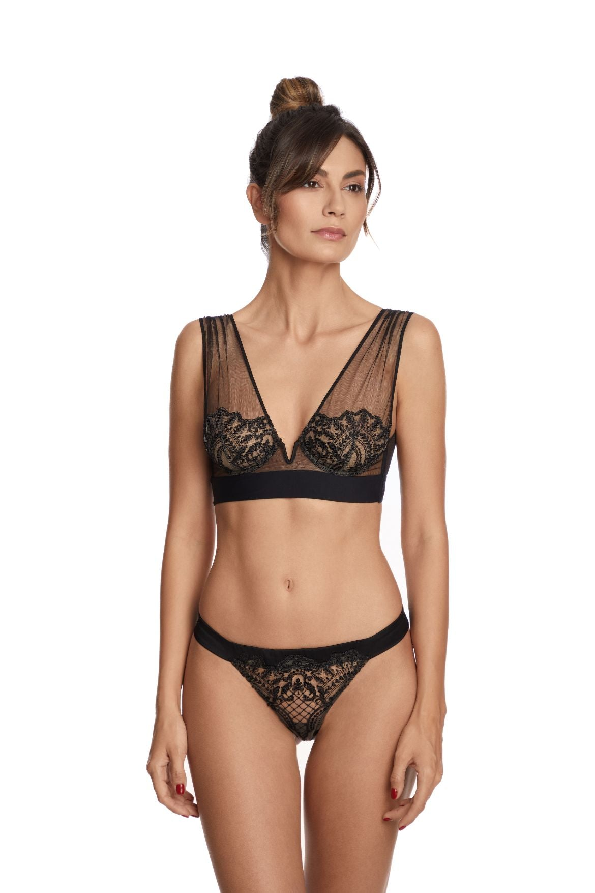 Questa Sera Underwired Bra in Black