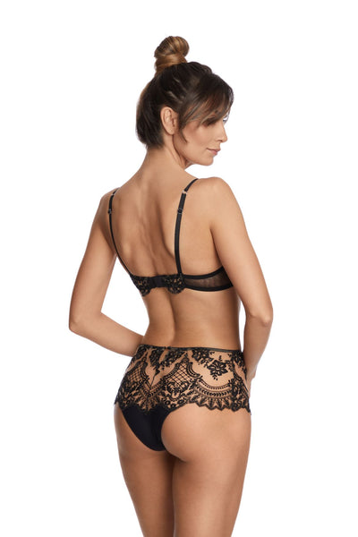 Questa Sera High Waist Brief in Black - I.D. Sarrieri