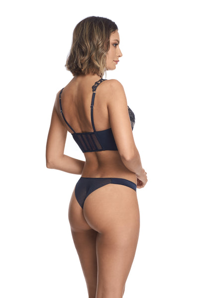 Questa Sera Demibustier in Midnight Blue - I.D. Sarrieri