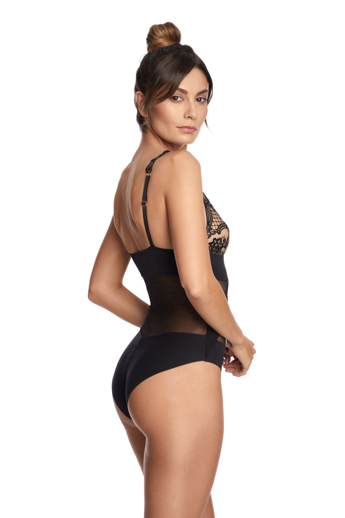 Questa Sera Bodysuit in Black - I.D. Sarrieri