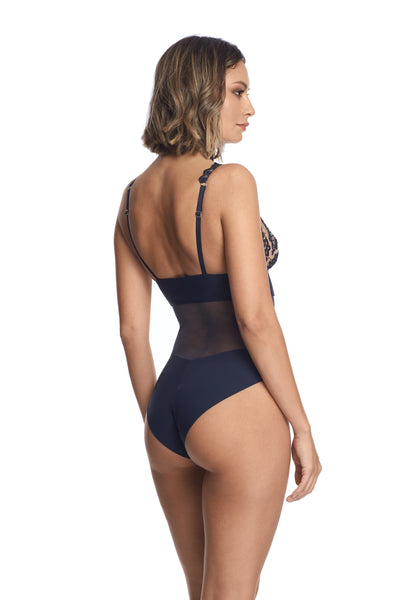 Questa Sera Bodysuit in Midnight Blue - I.D. Sarrieri