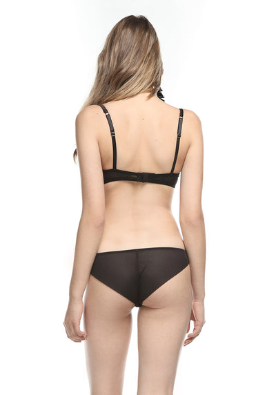 Coeur Sauvage Lace Detail Brief in Black